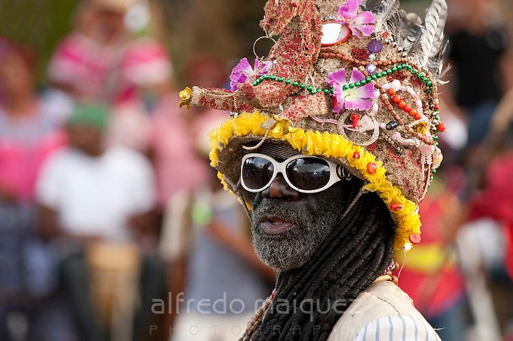 Congo  Costume,Devil's and Congos  Festival,Portobelo Village,Colon Province,Panama,C.A.