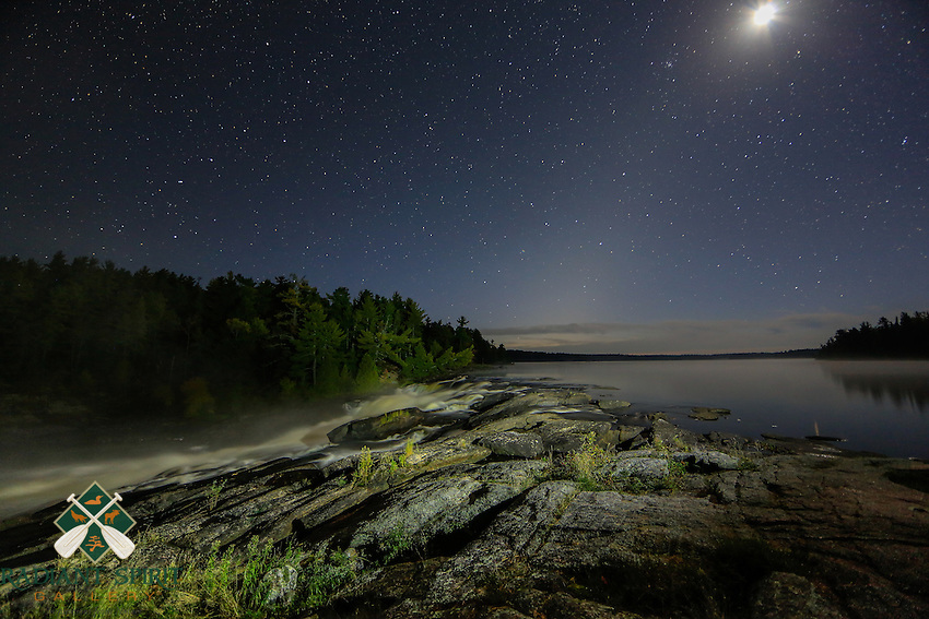 &quot;Starry Night at Curtain Falls&quot;<br /> <br /> This image was taken in the wee hours of the morning on a two-week Fall BWCA wilderness canoe trip. We canoed by moonlight across a cove and hiked along the dark portage trail to enjoy this session of light painting with this well-loved waterfall.