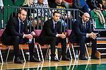 S&ouml;dert&auml;lje 2015-10-20 Basket Basketligan S&ouml;dert&auml;lje Kings - Bor&aring;s Basket :  <br /> S&ouml;dert&auml;lje Kings tr&auml;nare headcoach coach Vedran Bosnic (t h) , assisterande tr&auml;nare coach Ludvig Degern&auml;s (mitten) och assisterande tr&auml;nare coach Srdjan Klinac (t v) inf&ouml;r matchen mellan S&ouml;dert&auml;lje Kings och Bor&aring;s Basket <br /> (Foto: Kenta J&ouml;nsson) Nyckelord:  S&ouml;dert&auml;lje Kings SBBK T&auml;ljehallen Bor&aring;s Basket portr&auml;tt portrait tr&auml;nare manager coach