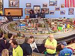 Farmingdale, New York, USA. January 21, 2018. TMB Model Train Club has Open House at its Headquarters.
