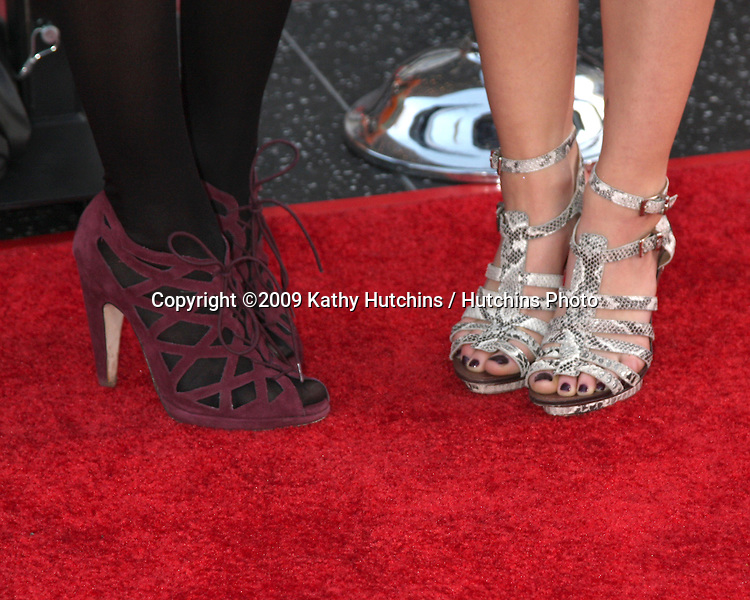 Katelyn Tarver & Lucy Hale  arriving at the 17 Again Premiere at Grauman's Chinese Theater in Los Angeles, CA on April 14, 2009.©2009 Kathy Hutchins / Hutchins Photo....                .