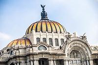 The Palace of Fine Arts, cultural center in the Historic Center of Mexico City, considered the most important in the manifestation of the arts in Mexico and one of the most renowned opera houses in the world. marble architectural building. White color. (Photo: Luis Gutierrez / NortePhoto.com)<br /> <br /> El Palacio de Bellas Artes, recinto cultural en el Centro Hist&oacute;rico de la Ciudad de M&eacute;xico, considerado el m&aacute;s importante en la manifestaci&oacute;n de las artes en M&eacute;xico y una de las casas de &oacute;pera m&aacute;s renombradas del mundo. edificio arquitectonico de marmol. color blanco.  (Foto: Luis Gutierrez / NortePhoto.com)