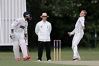 D Ironside in bowling action for Billericay during Ilford CC (batting) vs Billericay CC, Shepherd Neame Essex League Cricket at Valentines Park on 25th May 2019
