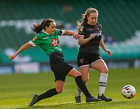 3rd November 2019; Aviva Stadium, Dublin, Leinster, Ireland; FAI Cup Womens Final Football, Peamount United versus Wexford Youth Womens Football Club; Aine O'Gorman of Peamount United tries to get past the defender - Editorial Use