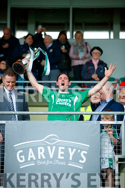 Ballyduff Captain Mikey Boyle with the cup after the Senior County Hurling Final in Austin Stack Park on Sunday