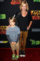 "CENTURY CITY, CA, USA - SEPTEMBER 27: Oliver McLanahan Phillips, Julie Bowen arrive at the Los Angeles Screening Of Disney XD's ""Star Wars Rebels: Spark Of Rebellion"" held at the AMC Century City 15 Theatre on September 27, 2014 in Century City, California, United States. (Photo by Celebrity Monitor)"