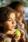 Nicaraguan woman poses with her daughter, Isla de Ometepe, Nicaragua