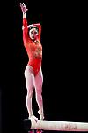 Yuki Uchiyama (JPN), <br /> AUGUST 21, 2018 - Artistic Gymnastics : <br /> Women's Individual All-Around Balance Beam <br /> at JIEX Kemayoran Hall D <br /> during the 2018 Jakarta Palembang Asian Games <br /> in Jakarta, Indonesia. <br /> (Photo by Naoki Nishimura/AFLO SPORT)