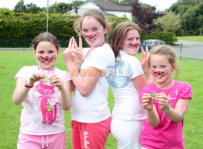 Emma Gaffney, Sinead Meagher, Niamh Meagher and Jessica Salmon at the Annual Family Fun Day in 5 Oaks...Photo NEWSFILE/Jenny Matthews.(Photo credit should read Jenny Matthews/NEWSFILE)....This Picture has been sent you under the condtions enclosed by:.Newsfile Ltd..The Studio,.Millmount Abbey,.Drogheda,.Co Meath..Ireland..Tel: +353(0)41-9871240.Fax: +353(0)41-9871260.GSM: +353(0)86-2500958.email: pictures@newsfile.ie.www.newsfile.ie.FTP: 193.120.102.198.