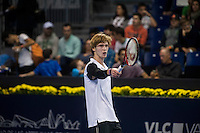 VALENCIA, SPAIN - OCTOBER 28: Andrey Rublev during Valencia Open Tennis 2015 on October 28, 2015 in Valencia , Spain