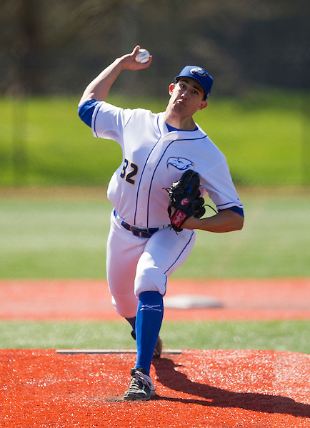 APRIL 2, 2016 -- VANCOUVER, B.C. - NAIA West baseball action between the UBC Thunderbirds and the Simpson Red Hawks at Thunderbird Park in Vancouver, B.C.<br /> <br /> ****(Photo by Rich Lam 2016 All Rights Reserved)****