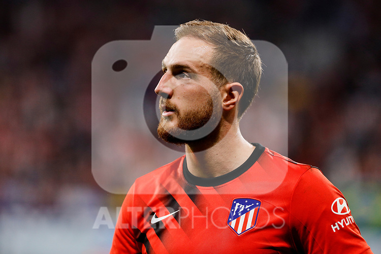 Jan Oblak of Atletico de Madrid during La Liga match between Atletico de Madrid and Real Madrid at Wanda Metropolitano Stadium{ in Madrid, Spain. {iptcmonthname} 28, 2019. (ALTERPHOTOS/A. Perez Meca)