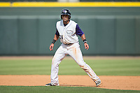 Keenyn Walker (24) of the Winston-Salem Dash takes his lead off of first base against the Salem Red Sox at BB&T Ballpark on May 31, 2015 in Winston-Salem, North Carolina.  The Red Sox defeated the Dash 6-5.  (Brian Westerholt/Four Seam Images)