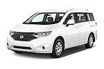 2015 Nissan Quest s 5 Door Mini Van angular front stock photos of front three quarter view