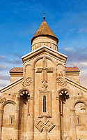 Picture &amp; image of Samtavisi Georgian Orthodox Cathedral, 11th century, Shida Karti Region, Georgia (country)<br /> <br /> Built during the so called 10-11th century &ldquo;Georgian Golden Era&rdquo; Samtavisi cathedral is a built in classical Georgian style of the period. Layout on a cruciform ground plan with a high central cylindrical central cupola.