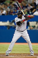 Boston Red Sox designated hitter David Ortiz #34 during an American League game against the Toronto Blue Jays at Rogers Centre on June 3, 2012 in Toronto, Ontario.  (Mike Janes/Four Seam Images)