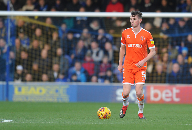 Blackpool's Paudie O'Connor<br /> <br /> Photographer Kevin Barnes/CameraSport<br /> <br /> The EFL Sky Bet League One - AFC Wimbledon v Blackpool - Saturday 29th December 2018 - Kingsmeadow Stadium - London<br /> <br /> World Copyright © 2018 CameraSport. All rights reserved. 43 Linden Ave. Countesthorpe. Leicester. England. LE8 5PG - Tel: +44 (0) 116 277 4147 - admin@camerasport.com - www.camerasport.com