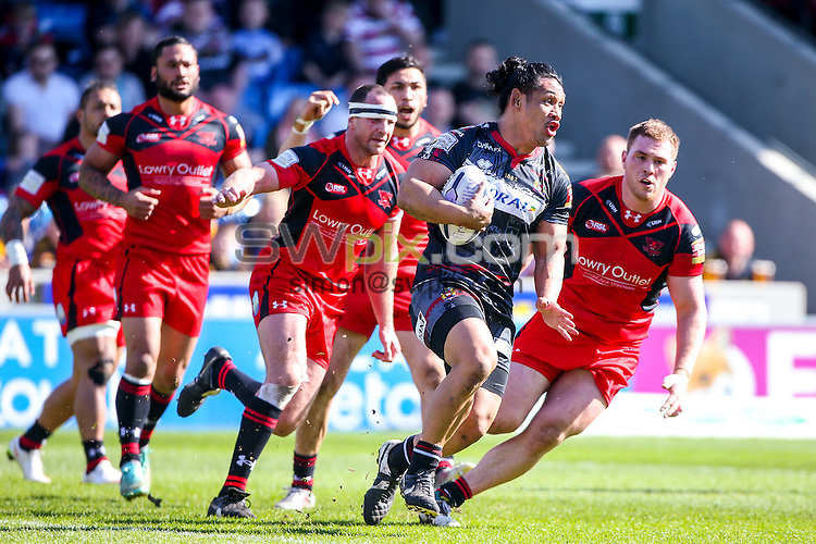 Picture by Alex Whitehead/SWpix.com - 06/04/2015 - Rugby League - First Utility Super League - Salford Red Devils v Wigan Warriors - AJ Bell Stadium, Salford, England - Wigan's Taulima Tautai in action.