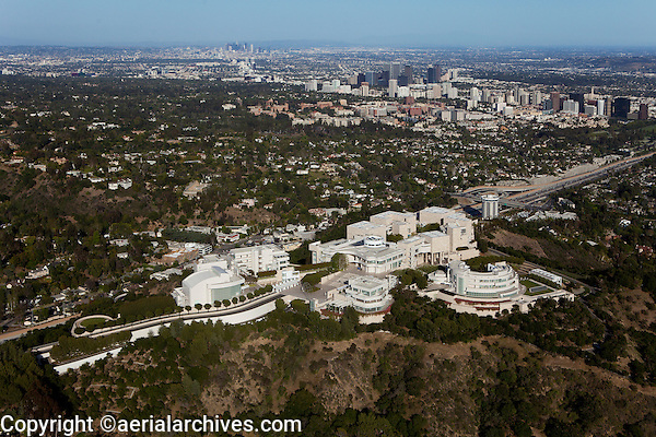 aerial photograph The Getty Center, Brentwood, Los Angeles, California