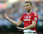 Ben Gibson of Middlesbrough during the Premier League match at the Etihad Stadium, Manchester. Picture date: November 5th, 2016. Pic Simon Bellis/Sportimage