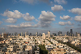 ISRAEL, Tel Aviv from above, looking East, Bauhaus Architecture