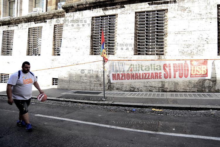 Roma, 20 Luglio 2017<br /> Lavoratori dell'ILVA di Taranto manifestano al Ministero dello sviluppo economico contro la vendita e i licenziamenti