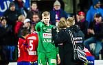S&ouml;dert&auml;lje 2014-11-09 Fotboll Kval till Superettan Assyriska FF - &Ouml;rgryte IS :  <br /> &Ouml;rgrytes m&aring;lvakt Fredrik Andersson deppar efter matchen mellan Assyriska FF och &Ouml;rgryte IS <br /> (Foto: Kenta J&ouml;nsson) Nyckelord:  S&ouml;dert&auml;lje Fotbollsarena Kval Superettan Assyriska AFF &Ouml;rgryte &Ouml;IS depp besviken besvikelse sorg ledsen deppig nedst&auml;md uppgiven sad disappointment disappointed dejected