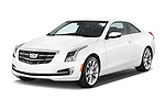 2019 Cadillac ATS Coupe Premium Performance 2 Door Coupe angular front stock photos of front three quarter view