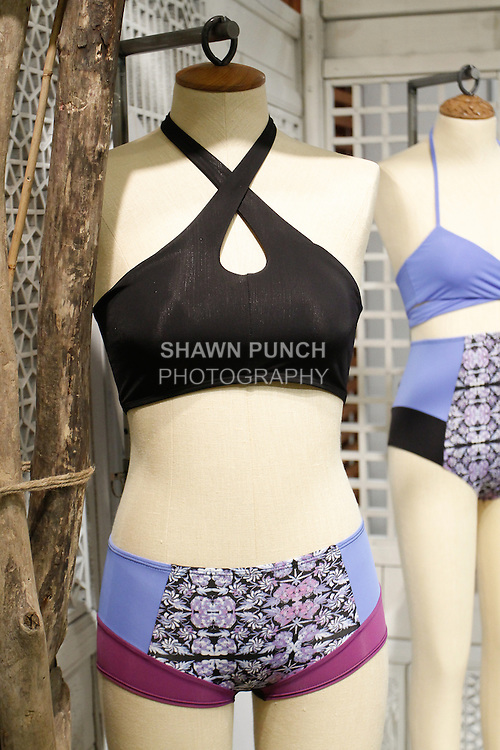 Surfwear displayed at the Free People FP Movement collection launch at 218 West 40 Street New York City on May 1, 2014.