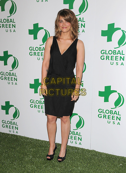 CLEMENTINE FORD.The 5th Annual Global Green USA Pre-Oscar Party highlighting Global Warming Solutions held at Avalon in Hollywood, California, USA..February 20th, 2008        .full length black dress .CAP/DVS.©Debbie VanStory/Capital Pictures.
