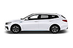 Car driver side profile view of a 2019 KIA Optima Sense  5 Door Wagon