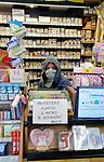 Coronavirus Outbreak Italy is on Lockdown and quarantine, Pergine Valsugana, Italy.The daily life in an empty small city of North of Italy. Italy is lockdown till 3rd of April 2020 in a bid to slow down the spread of Covid-19. At the Tabac Kiosk<br /> © Pierre Teyssot