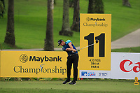 Matthieu Pavon (FRA) in action on the 11th during Round 2 of the Maybank Championship at the Saujana Golf and Country Club in Kuala Lumpur on Friday 2nd February 2018.<br /> Picture:  Thos Caffrey / www.golffile.ie<br /> <br /> All photo usage must carry mandatory copyright credit (&copy; Golffile | Thos Caffrey)