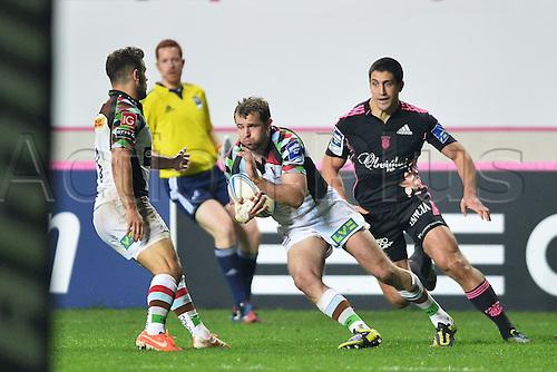 04.04.2014. Paris, France. Amlin Challenge Cup Rugby. Stade Francais versus Harlequins.  Nick Evans (har)