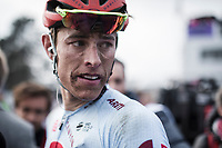 2nd Place finisher Nils Pollit (GER/Katusha Alpecin) post race. <br /> <br /> 117th Paris-Roubaix (1.UWT)<br /> 1 Day Race: Compiègne-Roubaix (257km)<br /> <br /> ©kramon