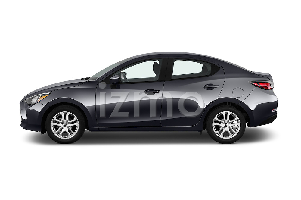 Car Driver side profile view of a 2018 Toyota Yaris-iA AT 4 Door Sedan Side View