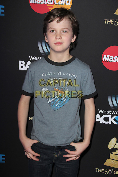 LOS ANGELES, CA - FEBRUARY 12: Gabriel Bateman at the 2016 Grammys Radio Row Day 1 presented by Westwood One, Staples Center, Los Angeles, California on February 12, 2016.   <br /> CAP/MPI/DE<br /> &copy;DE//MPI/Capital Pictures