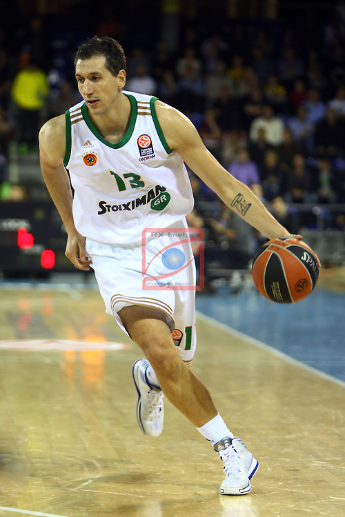 Euroleague Basketball-Regular Season Round 5.<br /> FC Barcelona vs Panathinaikos Athens: 78-69.<br /> Dimitris Diamantidis.