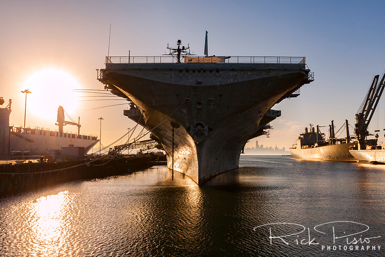 The World War 2 era Essex class carrier USS Hornet now sits as a museum at Alameda Point. In addition to distinguished service during the second world war the Hornet will also be remembered as the recovery ship for the Apollo 11 splashdown.