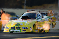 Oct. 5, 2012; Mohnton, PA, USA: NHRA funny car driver Johnny Gray during qualifying for the Auto Plus Nationals at Maple Grove Raceway. Mandatory Credit: Mark J. Rebilas-