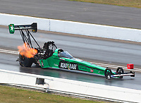 Sep 4, 2017; Clermont, IN, USA; NHRA top fuel driver Kebin Kinsley during the US Nationals at Lucas Oil Raceway. Mandatory Credit: Mark J. Rebilas-USA TODAY Sports