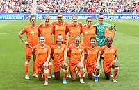 20190707 - LYON , FRANCE : Dutch players with Sari Van Veenendaal (1) , Desiree Van Lunteren (2) , Stefanie Van Der Gragt (3) , Anouk Dekker (6) , Sherida Spitse (8) , Vivianne Miedema (9) , Danielle Van De Donk (10) , Lieke Martens (11) , Jackie Groenen (14) , Dominique Jansen Bloodworth (20) and Lineth Beerensteyn (21) pictured posing for the teampicture during the female soccer game between The United States of America – USA-  and the Netherlands – Oranje Leeuwinnen -, the final  of the FIFA Women's  World Championship in France 2019, Sunday 7 th July 2019 at the Stade de Lyon  Stadium in Lyon  , France .  PHOTO SPORTPIX.BE | DAVID CATRY