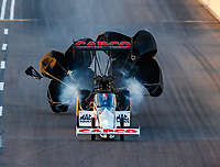 Feb 23, 2018; Chandler, AZ, USA; NHRA top fuel driver Steve Torrence during qualifying for the Arizona Nationals at Wild Horse Pass Motorsports Park. Mandatory Credit: Mark J. Rebilas-USA TODAY Sports