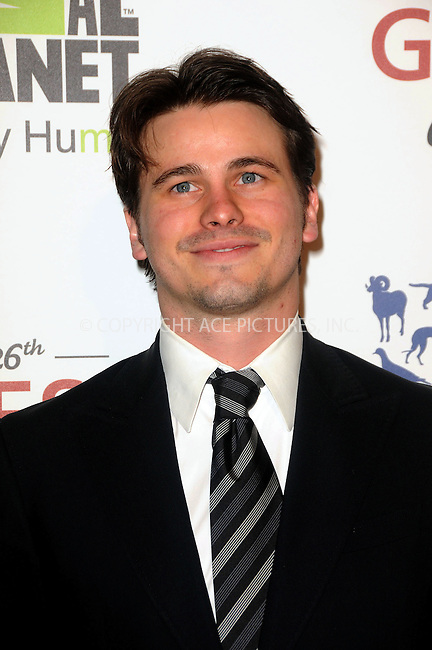WWW.ACEPIXS.COM . . . . .  ....March 24 2012, LA....Jason Ritter arriving at the 26th Annual Genesis Awards at The Beverly Hilton Hotel on March 24, 2012 in Beverly Hills, California. ....Please byline: PETER WEST - ACE PICTURES.... *** ***..Ace Pictures, Inc:  ..Philip Vaughan (212) 243-8787 or (646) 769 0430..e-mail: info@acepixs.com..web: http://www.acepixs.com