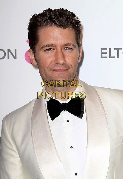 Matthew Morrison.21st Annual Elton John Academy Awards Viewing Party held at West Hollywood Park, West Hollywood, California, USA..February 24th, 2013.oscars headshot portrait black white tuxedo   jacket bow tie .CAP/ADM/KB.©Kevan Brooks/AdMedia/Capital Pictures.