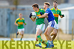 Daniel Daly South Kerry in action against Barry John Keane  Kerins O'Rahillys in the Kerry Senior Football Championship Semi Final at Fitzgerald Stadium on Saturday.