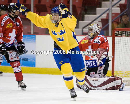 Mattias Lindström (Sweden - 27) - Team Sweden defeated Team Switzerland 3-1 in the 2008 Four Nations Cup third place game in the 1980 Arena on Sunday, November 8, 2008 in Lake Placid, New York.