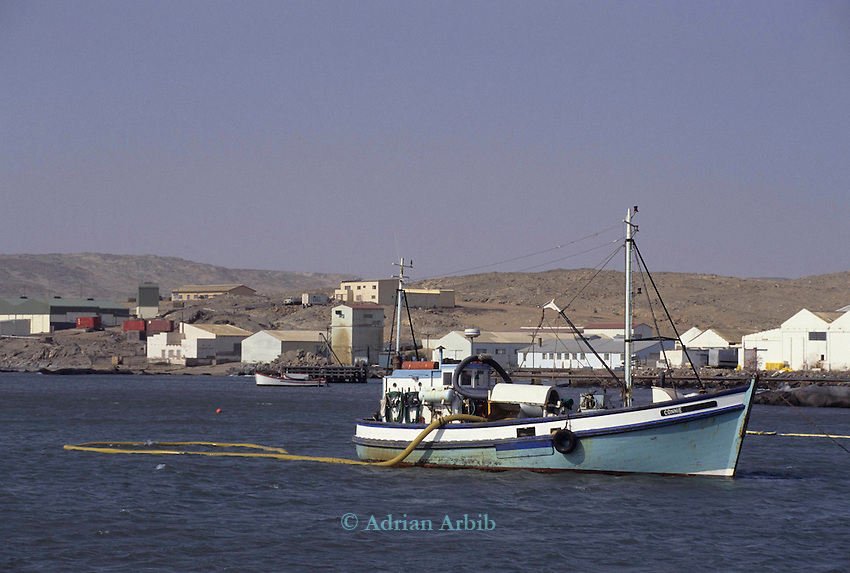 Diamond diving boat off the coast of the German town of Luderitz in Southern Namibia.