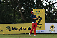 Marcel Siem (GER) in action on the 2nd during Round 1 of the Maybank Championship at the Saujana Golf and Country Club in Kuala Lumpur on Thursday 1st February 2018.<br /> Picture:  Thos Caffrey / www.golffile.ie<br /> <br /> All photo usage must carry mandatory copyright credit (&copy; Golffile | Thos Caffrey)
