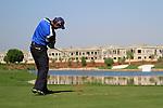 Padraig Harrington tees off on the par3 17th hole during Day 2 of the Dubai World Championship, Earth Course, Jumeirah Golf Estates, Dubai, 26th November 2010..(Picture Eoin Clarke/www.golffile.ie)